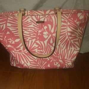 kate spade palm tree laptop tote bag purse